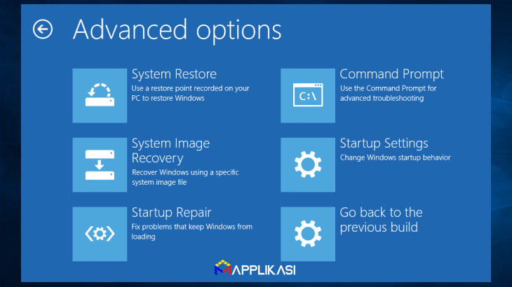 Cara Menghapus Update Windows 10 via advanced startup