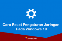 Cara reset jaringan Windows