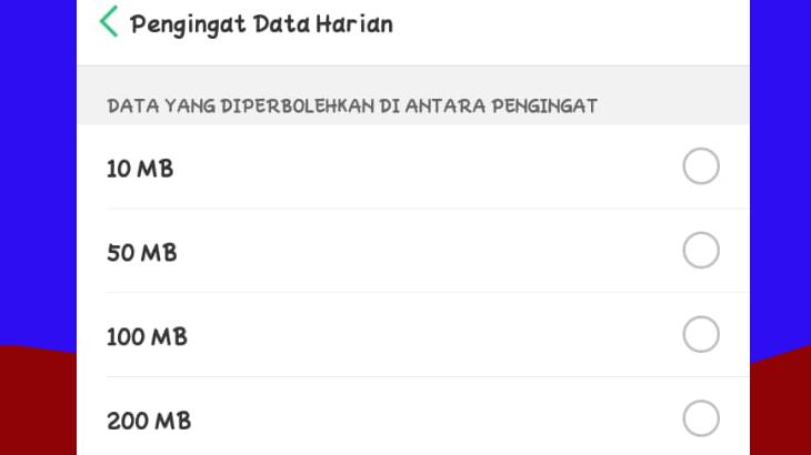 Batas Data Harian