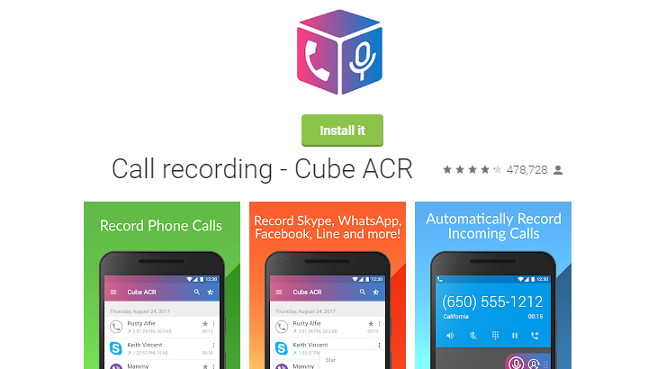 Call recording - Cube ACR