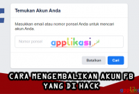 Cara Mengembalikan Akun Facebook yang di bajak