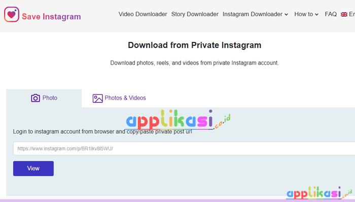 cara download foto dan video di akun ig yang di private