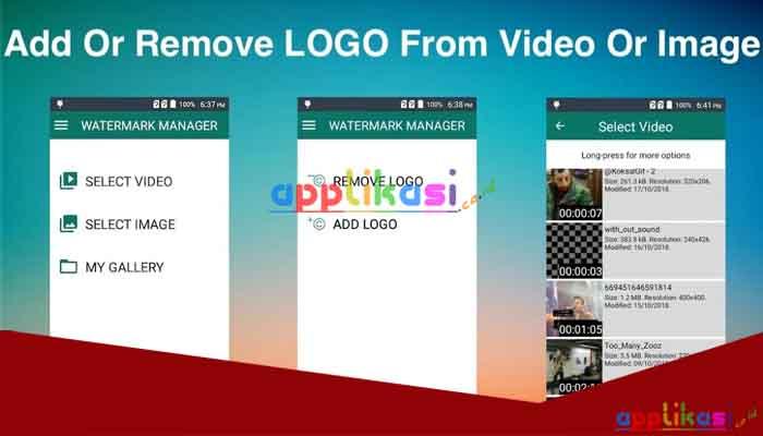 cara menghapus watermark video di android