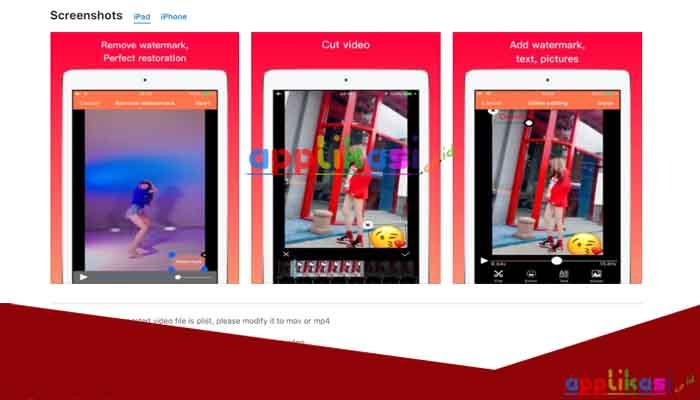 cara menghapus watermark video di iphone